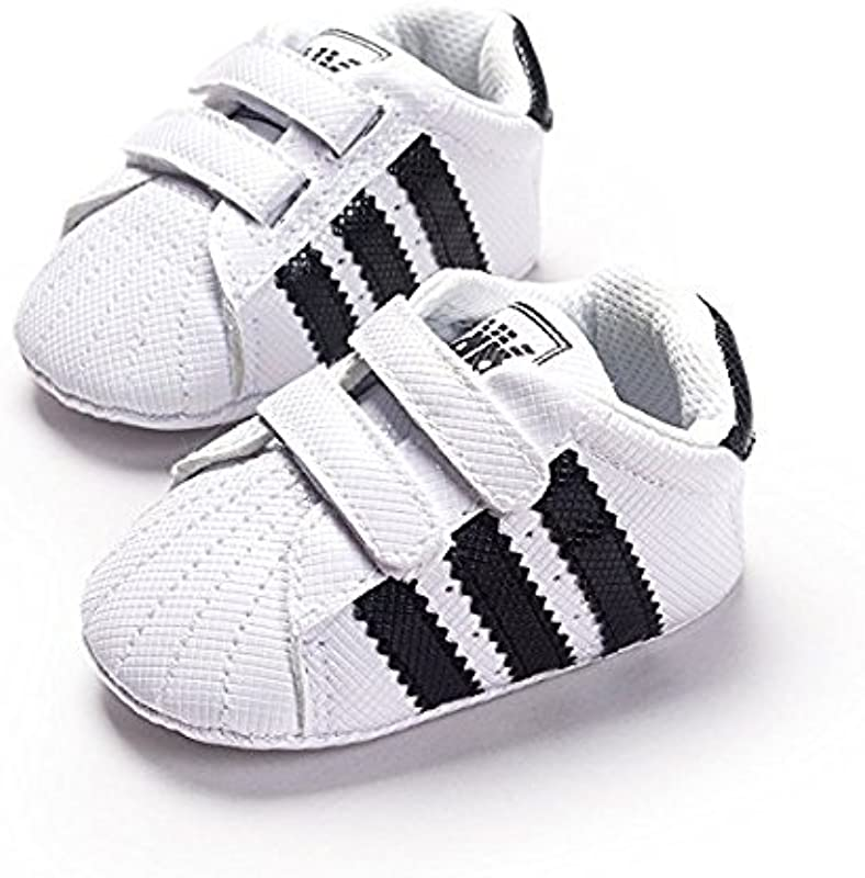 LIVEBOX Newborn Baby Boys Premium Soft Sole Infant Prewalker Toddler Sneaker Shoes