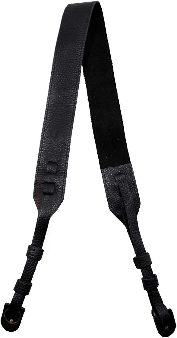 TETHER's Black Leather Camera Strap Limited time trial price SLR Max 45% OFF or DSLR for