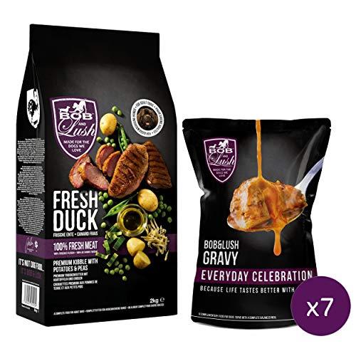 Bob & Lush 60% Delicious Duck Kibble (No Gravy, 15kg)
