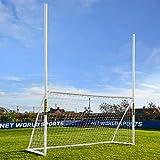 FORZA Combi Poteaux de Rugby et Football | But Multisport en PVC (Variété de Tailles) (4m x 2m)