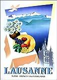 muzi928 Wandkunst Poster Lausanne Luzern Schweiz Reise
