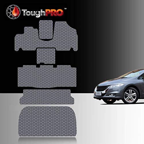 TOUGHPRO Floor Mat Accessories 1st + 2nd + 3rd Row + Cargo Mat Accessories Compatible with Honda Odyssey - All Weather - Heavy Duty - (Made in USA) - Gray Rubber - 2005, 2006, 2007, 2008, 2009, 2010
