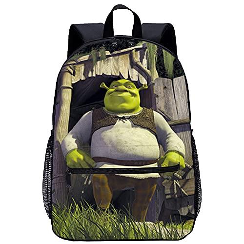YJBZDMG Zaino moda impermeabile con stampa a colori in tessuto Oxford 45x31x14cm Movie Shrek Zaino casual unisex