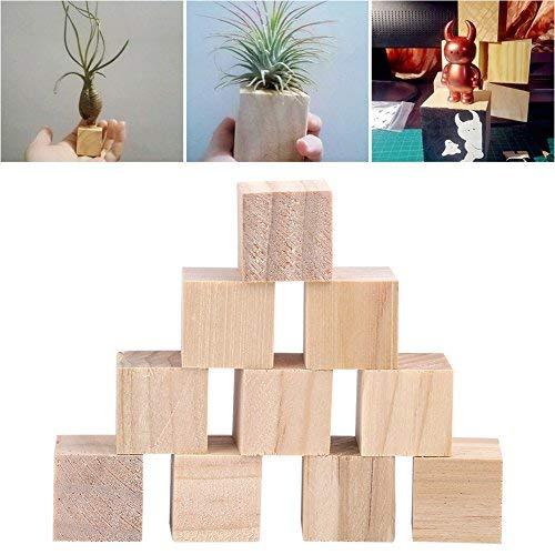 HEEPDD Houten blokjes, onvolmaakte natuurlijke vierkante houten kubus DIY handgemaakte ambachtelijke decoratieve accessoires voor kinderen puzzels maken speelgoed DIY projecten Home Decor