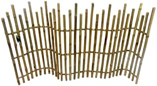 Master Garden Products Bamboo Picket Rolled Fence, 5'L x 3'H