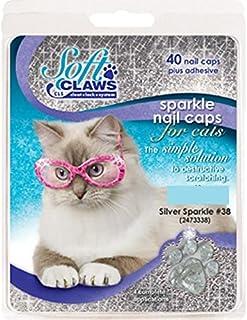 Feline Soft Claw Nail Caps, Large, Silver Sparkle