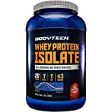 BodyTech Whey Protein Isolate Powder with 25...