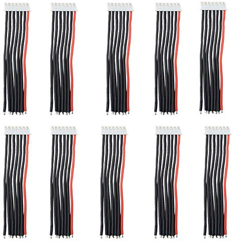 10pcs 2S 3S 4S 5S 6S Balance Verlängerungskabel Kabel mit 15cm 22awg Silikonkabel (6S)