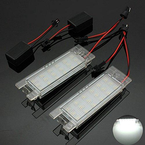 TUINCYN 18SMD LED Numéro de la plaque d'immatriculation 7000K Erreur Ultra Blanc Montage de la lampe de conduite gratuit pour conduire la voiture légère (2-Pack)