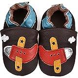 SUADEX Primeros Pasos Bebe Niños Niña Zapatos Zapatillas de Estar por Casa Pantuflas Calzado Botitas y Patucos Infantiles Piel Sintético 0-24 Meses