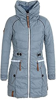Doric Womens Winter Fleece Liner Thickened Parka Jacket Solid Slim Fit Full Zip Warm Coat Outwear