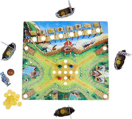 Image of HABA Valley of The Vikings - Knock Down Barrels & Collect (or Steal) The Most Gold! - 2019 Kinderspiel des Jahres (Children's Game of The Year) Winner - Ages 6+ (Made in Germany)