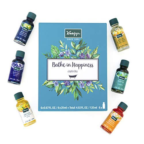 Kneipp 6 Piece Herbal Bath Oil Set, 6 x 20 Milliliter Bottles