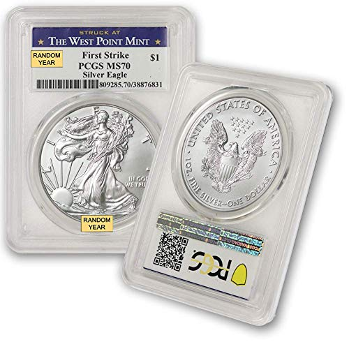 2006 - Present Silver American Eagle MS-70 (First Strike, West Point) PCGS by CoinFolio $1 MS70 PCGS