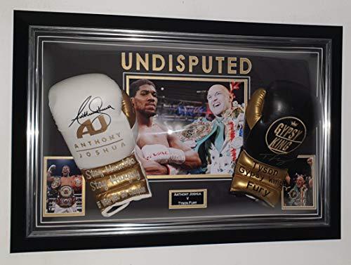 Anthony Joshua und Tyson Fury Boxhandschuhe, signiert