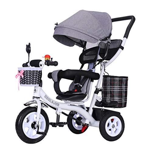 GYF De Cochecito De Bebé De Bicicletas Niños Portátiles Triciclo De Niños del Asiento Giratorio Valla con Seguridad 1-2-3-6 Juguete Antiguo Años Coche 5 Opciones De Color (Color : Pink)