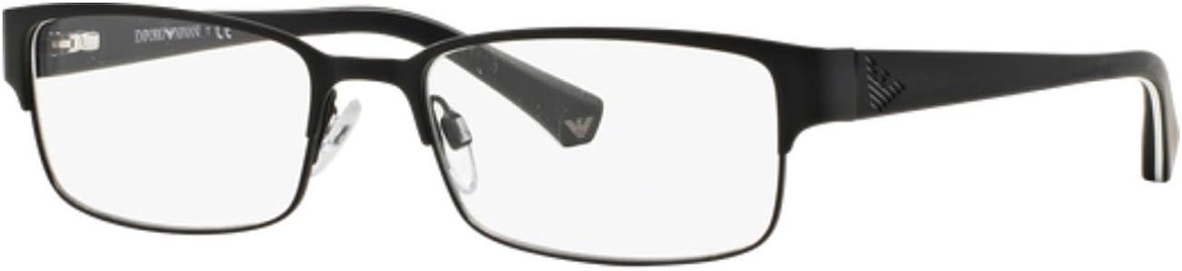 Armani EA1036 Eyeglass Frames 3109-53 - Matte Black EA1036-3109-53