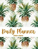 Awesome pineapple Daily Planner 2021-2022: 365 Planner One Page A Day, Month to View Daily Diary One Year Planner Organizer Book with Hourly Time ... Funky Gold pineapple Daily Planner 2022