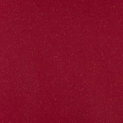 englisch dekor Tela para Muebles de decoración Inglesa, ignífuga, Tela de tapicería roja para Coser, Lana Virgen, Aislamiento acústico