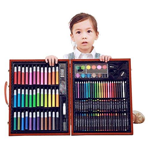 HJXJXJX 150 STÜCKE Deluxe Buntstifte Farben Stifte Bleistifte Sets Professionelle Kinder Kunst Malen Set Künstler-Set Perfekt für Anfänger oder Angehende Künstler Kinder Erwachsene, Dark Brown