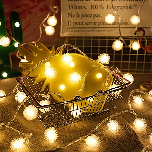 CFLFDC String licht gekleurd licht LED-lamp snoer licht met kerstboom licht festival (haarball) warm wit 5m 50 lampplug-in