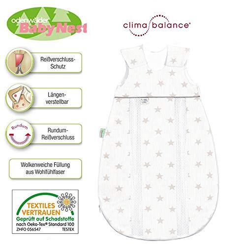 Odenwälder Prima Klima Vierjahreszeiten Jersey 130 cm // 3-6 Jah. beige // Schlafsack Jersey- Babyschlafsack // Reißverschluss-Schutz // Made in Germany