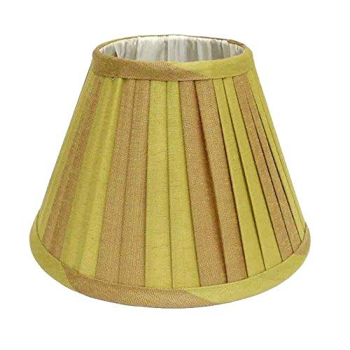 Better & Best lampenkap van zijde, smal, 20 cm, tweekleurig, taupe en groen gestreept