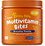 Zesty Paws Multivitamin Treats for Dogs - Glucosamine Chondroitin for Joint Support + Digestive...