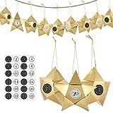 GWHOLE Caja de Dulces Cajas Estrellas Calendarios de Adviento 24 Navidad Cajas...