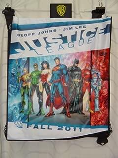 San Diego Comic Con 2011 JUSTICE LEAGUE Superman Wonder Woman Green Lantern Aquaman Batman Flash Swag Bag Approx. 24 x 30