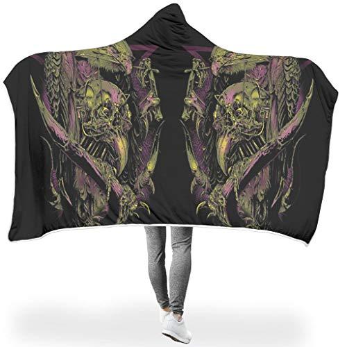 O5KFD&8 Fledermausdecke Skull-Mirror Themen Drucken Sherpa Weich Decken - Frightening Riese Passt Frauen Verwenden White 130x150cm