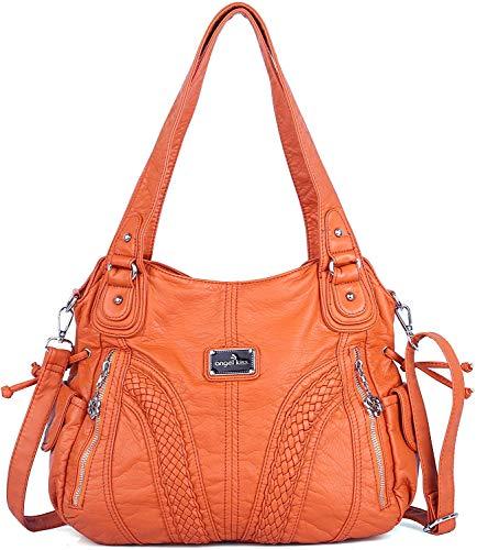 Angel Kiss vrouwenhandtas ruim meerdere zakken dames ' schoudertas mode PU Tote tas satchel tas designer handtassen (A1555-3#158#19ORANGE)
