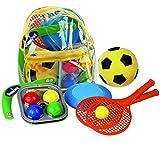 Androni Giocattoli Kinder Sommer Spielzeug Softball Boomerang Boccia Frisbee Soft Tennis