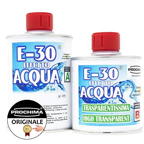 PROCHIMA FE034G320 E 30 Effetto Acqua A+B, Resina Epossidica Trasparente, 320 gr