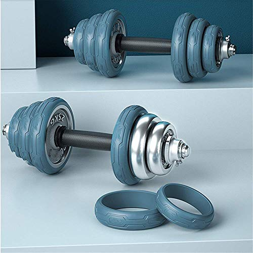 N\A Hanteln, Gewichtseinstellung Gusseisen Plating Dumbbells für Männer Home Fitness, freies 30Cm Foam Pleuelstangen, 10Kg (5 kg * 2),Blau