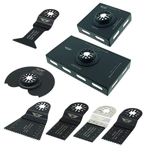 8 x TopsTools UNBCK1 Socket Back Box Cutters Kit voor Bosch Fein (Non-StarLock) Makita Milwaukee Einhell Ergotools Hitachi Parkside Ryobi Worx Workzone Multi Tool Accessoires