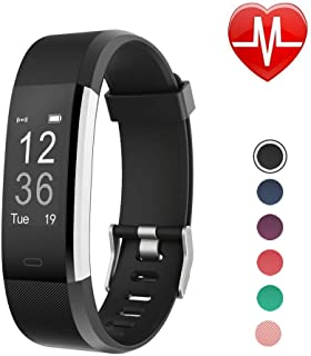 LETSCOM Fitness Tracker HR, Activity Tracker Watch with Heart Rate Monitor, IP67 Waterproof Smart Bracelet with Step Counter, Calorie Counter, Pedometer Watch for Kids Women and Men