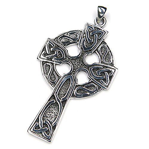 Keltenkreuz Schmuck Anhänger Silber keltischer Kettenanhänger keltisches Klreuz groß Herren Damen