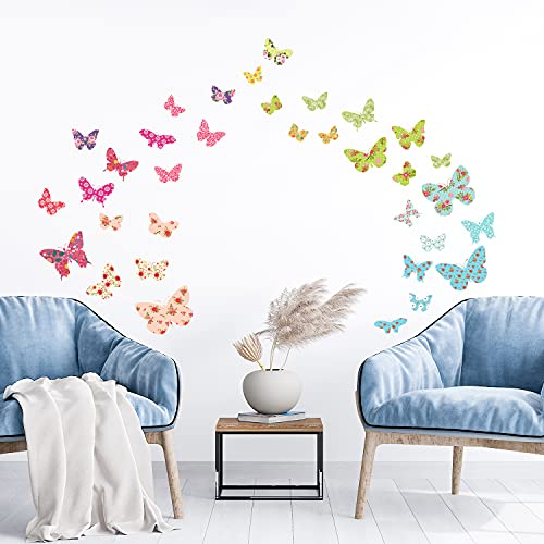 Decowall DW 1408 Patterned Butterflies Removable