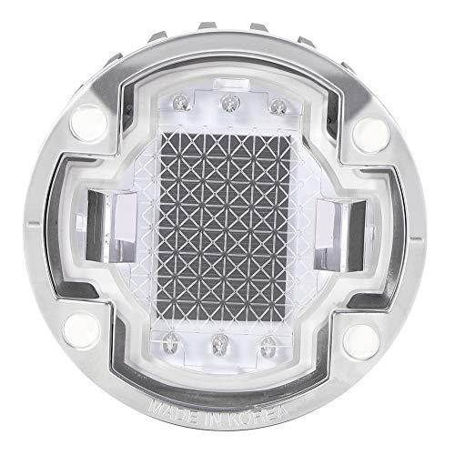 Luz subterránea solar, luz subterránea LED con energía solar, luces de muelle de entrada, lámpara enterrada con IP68 a prueba de agua, azul normalmente encendido, para patio de camino de jardín de ace