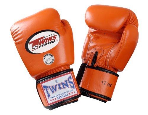 Twins Boxhandschuhe für Muay-Thai-Boxen, BGVL-3, 236 ml, 296 ml, 355 ml, 414 ml, 473 ml, schwarz, Orange, 283 g