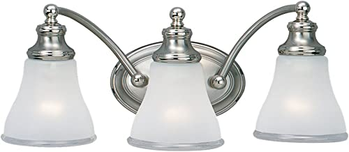 2021 Sea Gull Lighting 40011-773 Three outlet online sale Light Wall Bath Fixture, new arrival Two Tone Nickel outlet sale