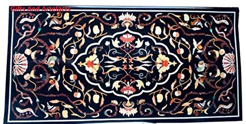 Gifts and Artefakte Rechteckige Form Marmor Büro Meetingtisch Marmor Konferenztisch Einlage Arbeit einzigartiges Design Vintage Crafts, 61 x 122 cm