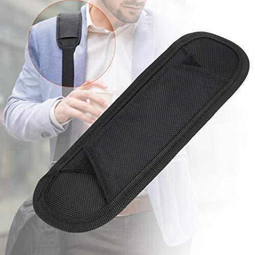Solomi Schulterpolster Taschen,Dekaim Schulterpolster Durable Ersatz-Schultergurt-Auflage for Tasche (schwarz)