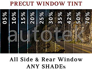 Precut Auto Tint Films Computer Cut for All Sides + Rear Windshield Kit for Any Shade