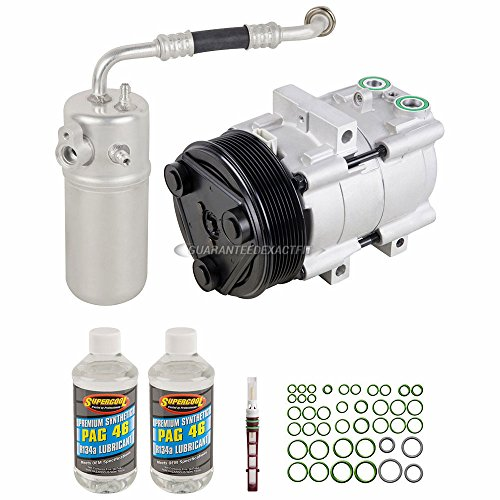 AC Compressor & A/C Kit For Ford F-150 F150 V8 1999 2000 2001 2002 2003 w/ 8-Groove Clutch Pulley - BuyAutoParts 60-80243RK New