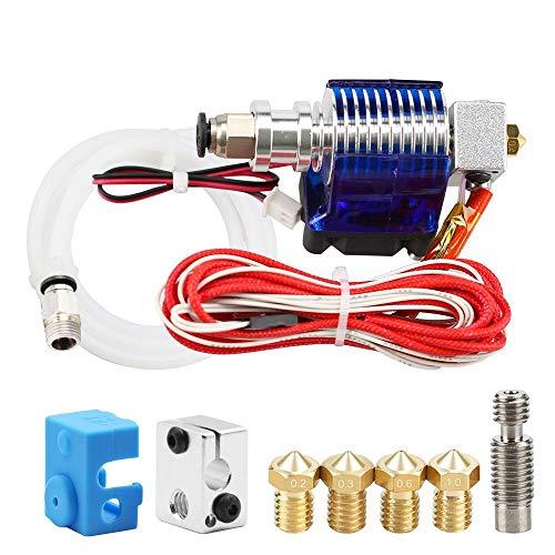 XBaofu 1set Impresora 3D J-Cabeza Hotend con Ventilador for 1,75 mm / 3,0 mm 3D V6 Bowden filamento Wade Extrusora 0,2 mm / 0,3 mm / 0,4 mm de Boquilla Individual (Color : 12V, tamaño : 3.0mm)