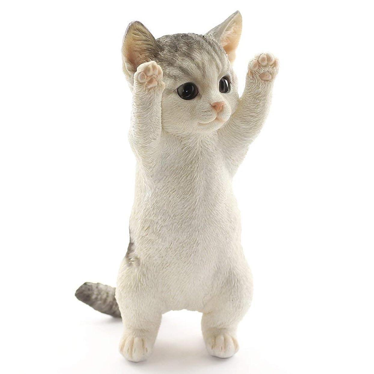 酸化するウィスキー暗記する[ファンシー] 誕生日プレゼント女性 人気 ネコ 猫 置物 インテリア ガーデニング ガーデンオーナメント 彼女 結婚記念日 転居 最適なプレゼントCa73(サバトラ)