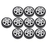 perfeclan 10 Piezas Neumáticos Llantas Miniatura Ruedas de Goma para Modelo de Coche 30 mm