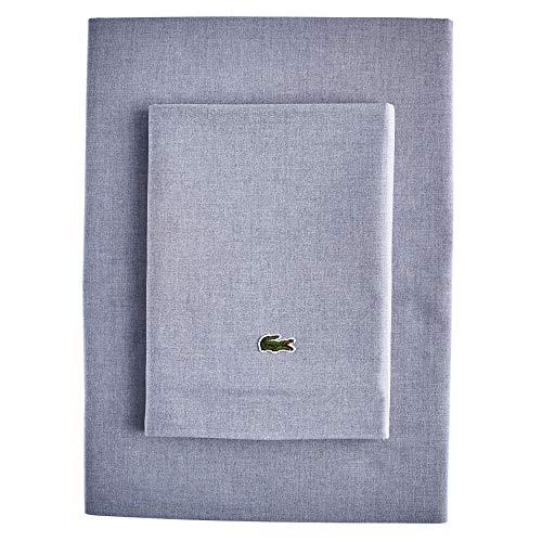 Lacoste Advantage Easy Care Conjunto de lençóis de 4 peças, completo, azul cambraia